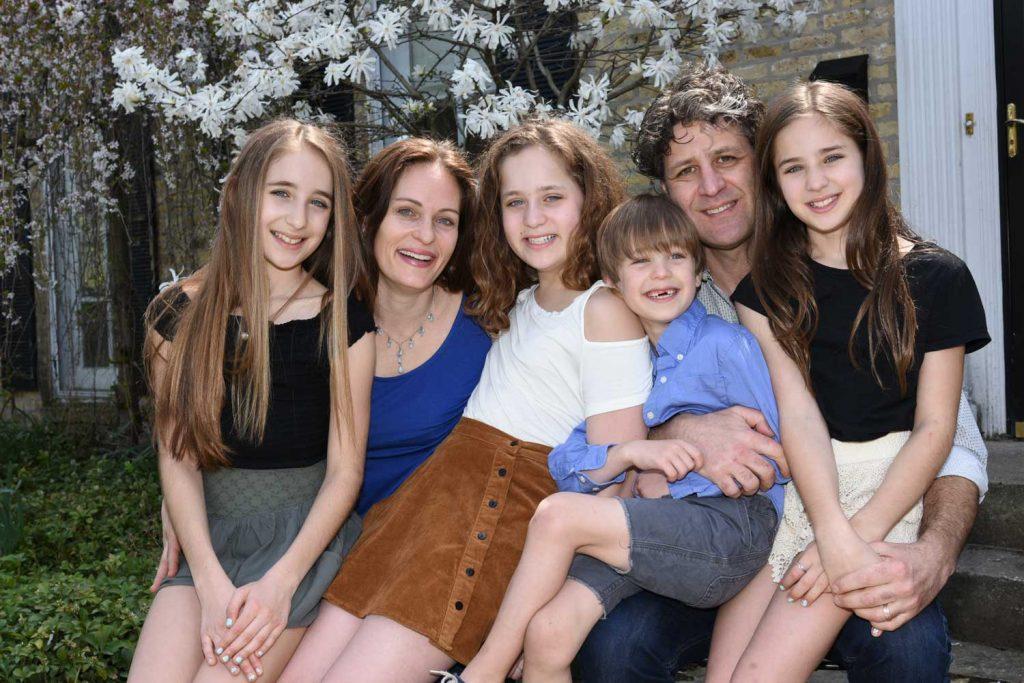 family portrait natural light